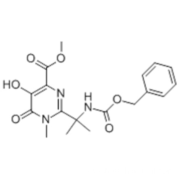 4-PYRIMIDINECARBOXYLIC ACID, 1,6-DIHYDRO-5-HYDROXY-1-METHYL-2-[1-METHYL-1-[[(PHENYLMETHOXY)CARBONYL]AMINO]ETHYL]-6-OXO-, METHYL ESTER CAS 888504-27-6
